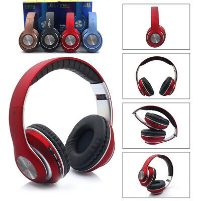Bluetooth Wireless Foldable Headset Stereo Headphones Noise Cancelling With Mic