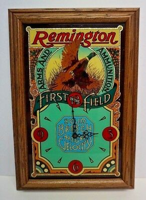 Vintage Remington Wall Clock Hunting Mallard Duck Advertising Gun