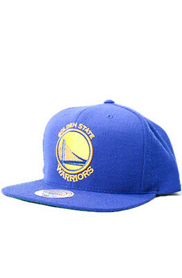 Mitchell & Ness Golden State Warriors Current Logo Snapback Hat Cap Nba Wool