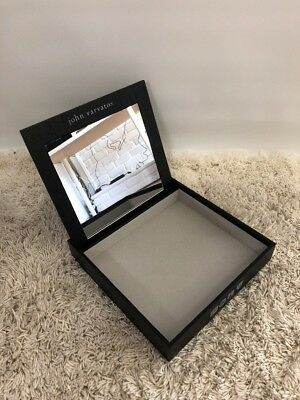 New Authentic John Varvatos Display Wood With Mirror Container Storage DISPLAY