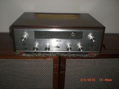 ALLIED 333 TUBE STEREO RECEIVER w/ OE WALNUT ENCLOSURE and WORKING!!!