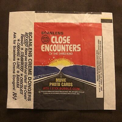 Scanlens Close Encounters Of The Third Kind Bubble Gum Wrapper Packet MINT