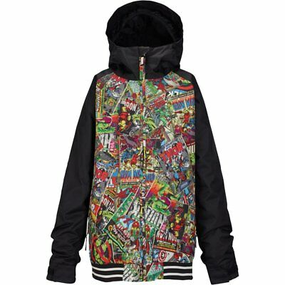 d6e1fa3e6836 BURTON YOUTH BOYS Snowboard Snow Marvel   Black GAME DAY JACKET ...