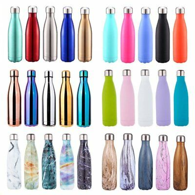 Thermos Vacuum Flask Insulated Double Wall Water Bottle Stainless Steel AU