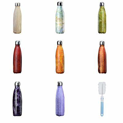 Thermos Vacuum Flask Insulated Double Wall Water Bottle Stainless Steel 500ml