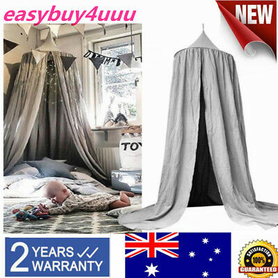 Kids Mosquito Net Play Canopy Bedcover Baby Room Curtain Bedding Round Dome Tent