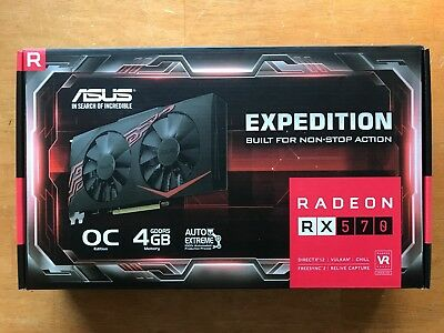 AMD Radeon RX 570 ASUS Expedition Gaming Graphics Card Mining 4GB