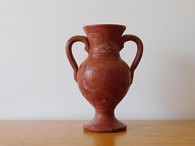 Ancient Antique Roman Red Ware Pottery Vase Vessel