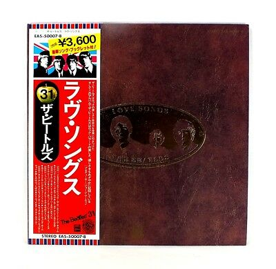 """THE BEATLES """"Love Songs"""" MINT JAPAN orig. ARCHIVE MASTER 1st edition w/ OBI"""