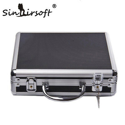 Aluminum Alloy Tactical Hard Pistol Gun Case Padded Foam Carry Hand Hunting Army