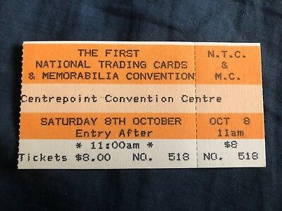 The First National Trading Cards & Memorabilia Convention Ticketno. 518