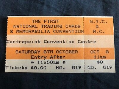 The First National Trading Cards & Memorabilia Convention Ticket No. 519