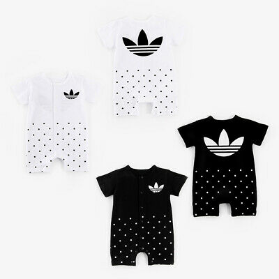 2018 New Baby Boys Girls Short Sleeve Summer Cotton Babygrows Bodysuit Clothes