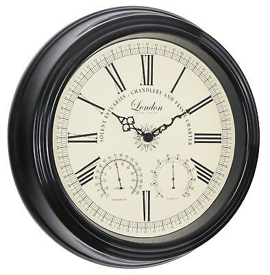 London clock Metal Thermometer Hygrometer classic look wall clock