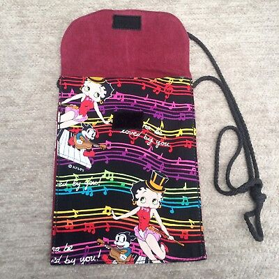 Betty Boop Small Purse Shoulder Bag Black Multi-Color I Wanna Be Loved By You