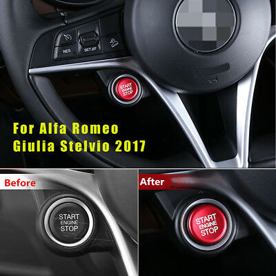 Engine Start Stop Push Button Ring Trim Case For Alfa Romeo Giulia Stelvio 2017
