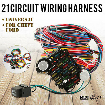12 circuit wiring harness chevy mopar ford hot rods universal wires 67 ford wiring harness 21 circuit wiring harness chevy universal ford mopar hotrods