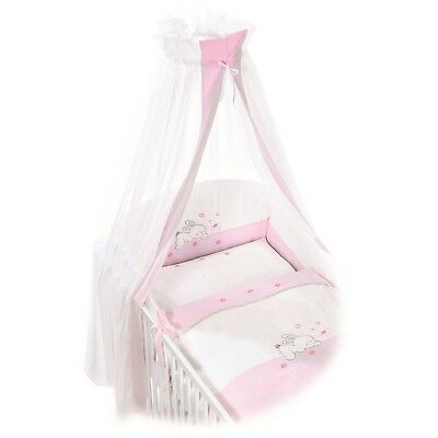 Easy-Baby Komplettset / Bettset / Himmelset 4-teilig Rabbit rose TOP