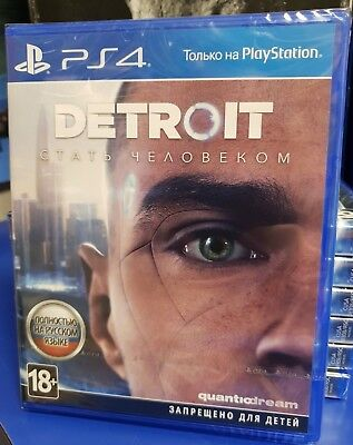 Detroit Become Human PS4 NEW / SEALED English / Russian