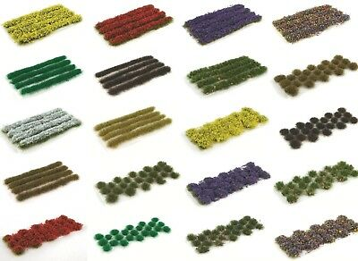 WWS Mix & Match Self-adhesive Static Grass Strips and Tufts - Wargames Terrain