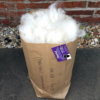 Core Wool 300g bag for bulking out needle felted shapes, stuffing, wadding etc