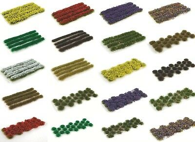 WWS Static Grass Tufts and Strips -Dolls House Miniatures Scenery Fairy Garden