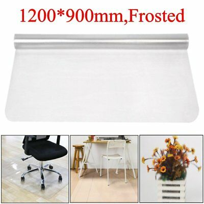 900x1200mm Frosted Non Slip Office Chair Desk Mat Floor Protector PVC Plastic UK