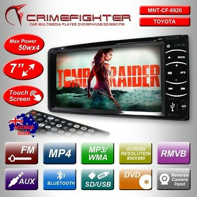 "CRIMEFIGHTER 6920 6.95"" TOYOTA PLUG & PLAY Double Din DVD MP4 USB FM Car Player"