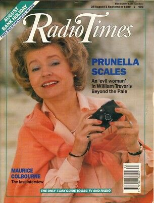 PRUNELLA SCALES - Vintage UK RadioTimes Magazine September 1989 C#58