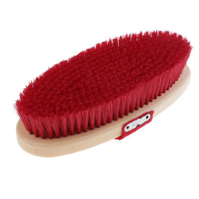 Lovoski Horse Hair Brush with Hand Strap Equestrian Grooming Supplies Red