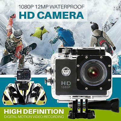 1080P FHD Sports Action Camera Motion Detection 140° CAM Waterproof Loop Record