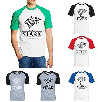 NEW Game of Thrones House Stark Winter Is Coming T-Shirts 100% Cotton Tees Men