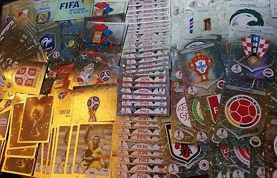 Panini FIFA World Cup RUSSIA 2018 Emblems, Legends Shiny cards stickers.