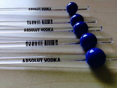 10x ABSOLUT Vodka Stirrer / Rührstäbchen Cocktail Bar Deko NEU NEW