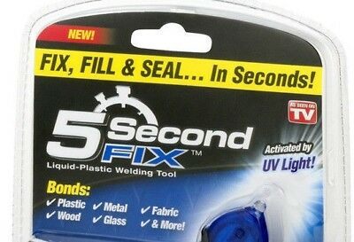 Brand New Liquid-Plastic Welding Tool..5 Second Fix Activated By Uv Light