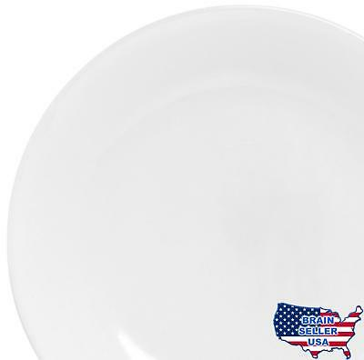 "Corelle Winter Frost 6-Pack Lunch Plates, White 8.5"" / 21.6cm , New, Free Shippi"