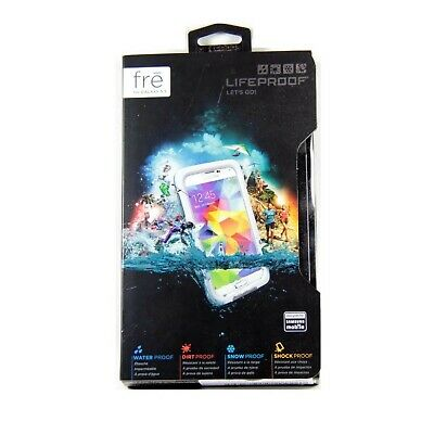 Lifeproof Case For Samsung Galaxy S5 Fre Shock Water Proof Genuine White 2401-02