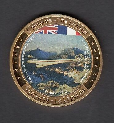 """Farbmedaille """"Concorde - The Legend - PP - 40mm"""
