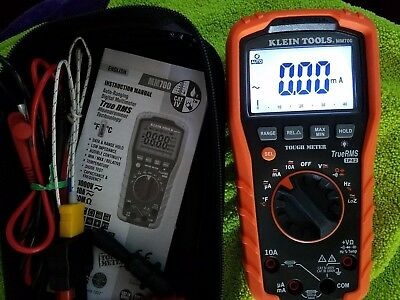 Klein Tools Mm700 Auto Ranging Digital Multimeter True RMS IP42 with Accessories