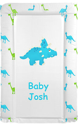 PERSONALISED PADDED BABY NAPPY CHANGING MAT dinosaur CHILDS NAME PRINTED ON MAT