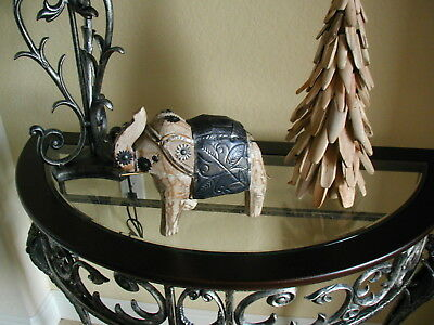 Elephant Animal Decor - Wood And Metal