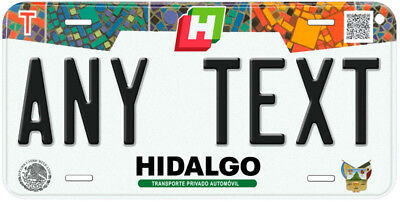 Hidalgo Mexico Any Name Number Novelty Auto Car License Plate C04