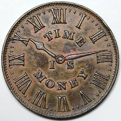 """1837 Hard Times Token, New York, NY: Smith's Clocks, """"Time is Money"""", AU"""