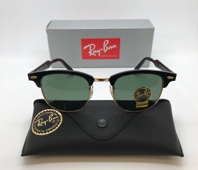 0f40497178 RAY-BAN RB3507 136 N5 CLUBMASTER ALUMINUM SUNGLASSES G-15 51mm NEW w ...