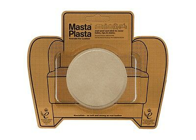 SUEDE MastaPlasta Self-Adhesive Repair Patch CIRCLE 8cmx8cm Fix holes, rips