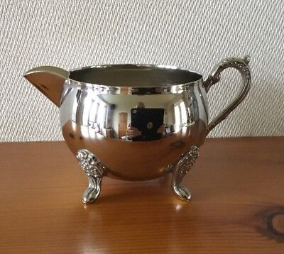 Beautiful Antique Vintage Silver Plated Milk/Cream/Sauce Jug with Claw Feet