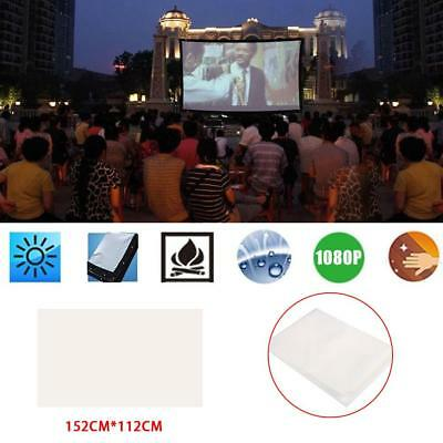 Portable Projection Screen Projection Curtain 60 Inch Soft Weddings Lobbies