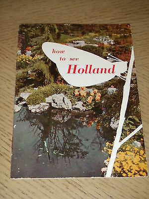 VINTAGE 1950s OFFICIAL How To See Holland Netherlands Tourist Guide Booklet Goes
