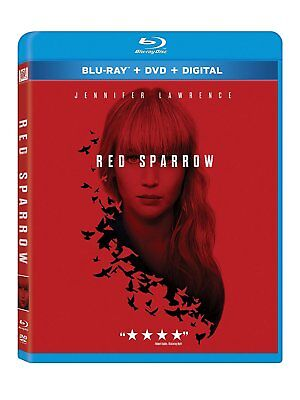 Red Sparrow (Blu-ray + DVD + Digital 2 Disc Combo Pack) 2018 w/SLIP COVER