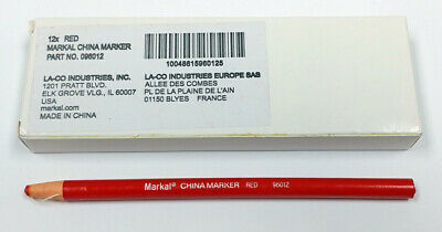 96014 MARKAL China Marker,Waterproof,Crimson Crimson